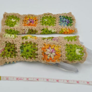 Handmade Fingerless gloves / crochet Christmas gift