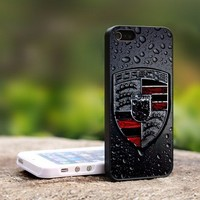 Porsche Sports Car Logo - For iPhone 4,4S Black Case Cover