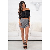 Adabelle Striped Shorts (Black)