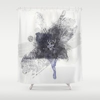 Expressions Deer Shower Curtain by Jai Johnson
