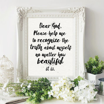 Beautiful Prayer Fine Art Print - Spiritual Art Gift - Confidence  Custom Color Quote Painting -  Inspirational Boho Positive Affirmation