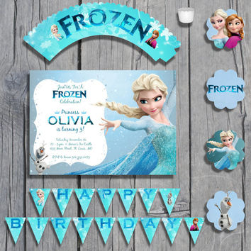 Complete Frozen Birthday Package Printable