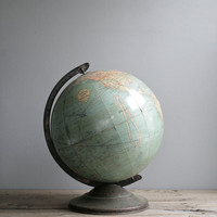 1920s aqua school globe 12 by ohalbatross on Etsy