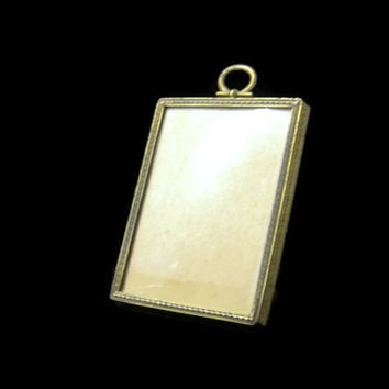 "Antique Photo Frame Brass Convex Glass 3"" x 4"" Easel Picture Frame"