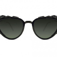 Protopunk Sunglasses - Black with Black Trim from Spitfire Sunglasses