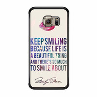marilyn monroe smiling quote samsung galaxy s6 s6 edge s3 s4 s5 cases