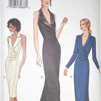 Vogue 7642 Misses Dress Sewing Pattern - Uncut- Size 8 10 12 - Fitted Straight Evening Length Dress