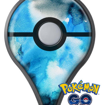 Blue Dark 32 Absorbed Watercolor Texture Pokémon GO Plus Vinyl Protective Decal Skin Kit