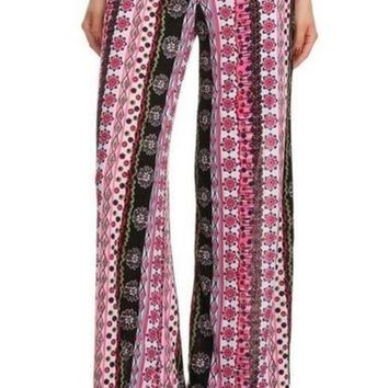 Summer Fun Border Print Palazzo Pants