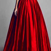 90s Elegant Red Ball Gown US sizes 0-10