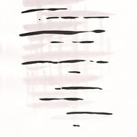 Original abstract strokes painting. Black and white ink lines on paper.  (small format A4 / 8.3 x 11.7'' ).