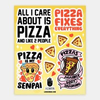 Pizza Love Sticker Sheet