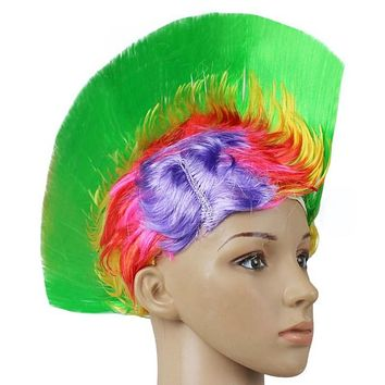 Punk Mohawk Rainbow WIG Cockscomb Hair for LGBT, Event, Party Halloween