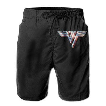 American Rock Band Van Halen Rising Mens Fashion Casual Beach Shorts