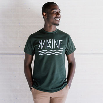 Imagine Maine Tee - Forest Green