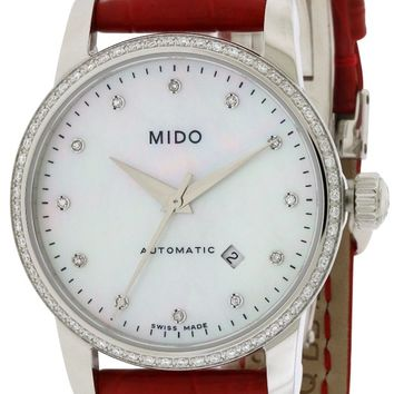 Mido Baroncelli Leather Automatic Watch M7602.4.69.7