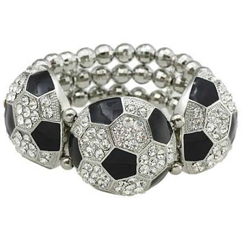 *[B/L]-Soccer Bling Statement Bracelet