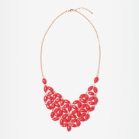Ruby Daisy Tessellate Necklace