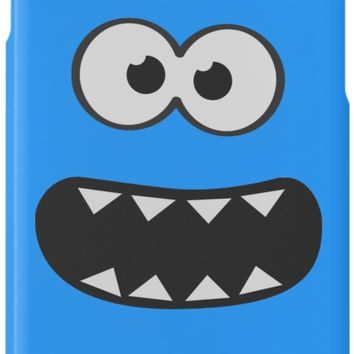 ' Funny Cookie Monster (Smiley Comic) Face (blue background))' iPhone-Hülle/Skin by badbugs