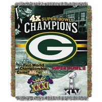 Green Bay Packers Commemorative Throw Blanket by Northwest (Pkr Team)