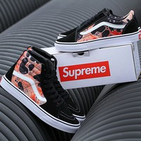 Vans X Supreme BL24 High Top Sneaker Flats Shoes Canvas Sport Shoes