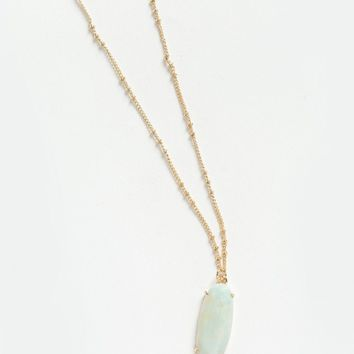 Diane Mint Stone Pendant Necklace
