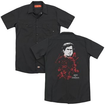 Army Of Darkness - Pile Of Baddies (Back Print) Adult Work Shirt
