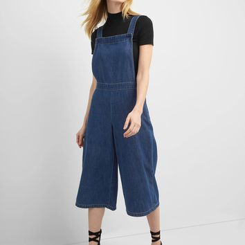 Denim culotte overalls | Gap