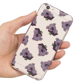 Meachy Panda Koala unicorn tpu phone cases For iphone 7 7Plus Soft  Case for iphone 6 6s 6Plus back cover Protective shell   k66
