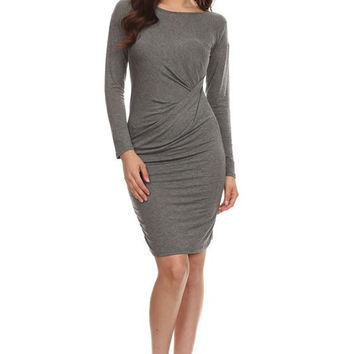 The Tia Jersey Knit Faux Wrap Style Dress