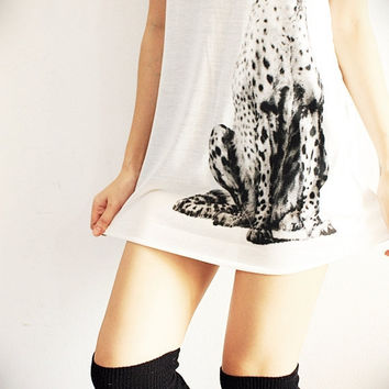Cheetah Africa Animal Art White Vest by SoYouThinkYouCanRock