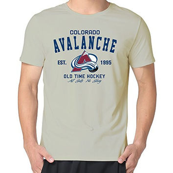 JUST Men's Colorado Avalanche Old Time Hockey T-Shirts Natural M