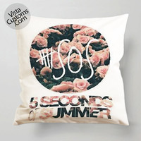 5 seconds of summer Band Logo pillow case, cover ( 1 or 2 Side Print With Size 16, 18, 20, 26, 30, 36 inch )