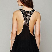 Free People  Mixed Lace Drop Tank at Free People Clothing Boutique