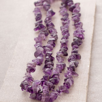 Amethyst Gemstone Nugget Necklace