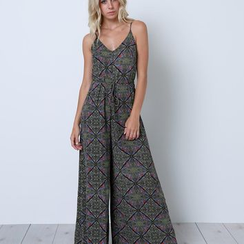 Something Happens Jumpsuit - Black Print