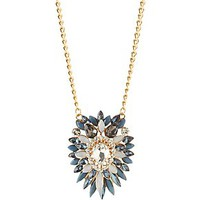 FACETED STONE CLUSTER PENDANT NECKLACE