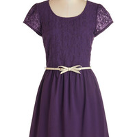 ModCloth Mid-length Cap Sleeves A-line Subtly Sweet Dress