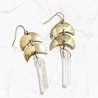 Dripping Moons Crystal Drop Earring - Urban Outfitters
