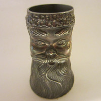 Figurative Pewter Mixer Cup Double Sided Jigger