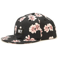 Obey In Bloom Floral Strapback Hat