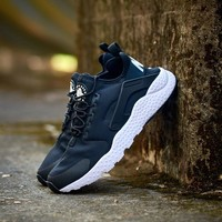 """NIKE"" Air Huarache Casual Running Sport Shoes Sneakers Dark Blue"