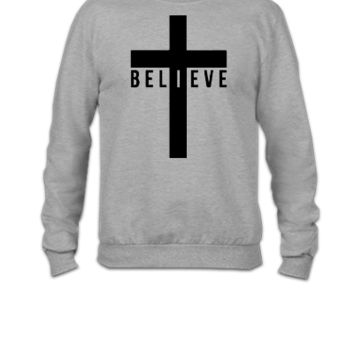 i believe crosss - Crewneck Sweatshirt