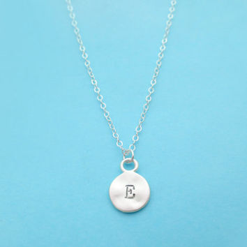 Coin, Initial, Necklace, Necklace, Silver, Personalized, Necklace, Minimal, Necklace, Dainty, Jewelry, Small, Initial, Coin, Necklace