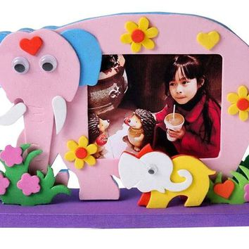 Simple Baby Home Photo Frame Making Craft Kit Color Random [Elephant]