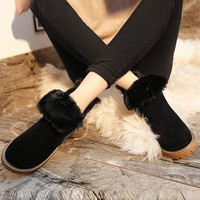 Hot Deal On Sale England Style Shoes Winter With Heel Korean Anti-skid Boots [79793160217]