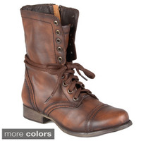 Mark & Maddux Women's 'WII-02' Lace-up Mid-calf Combat Boots