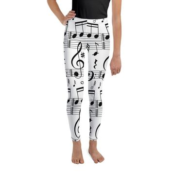 Music Note Leggings Youth Leggings