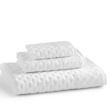 Diamant Towels S/3 | White