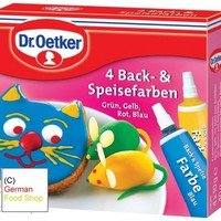 Dr. Oetker 4 Baking and Food Colors